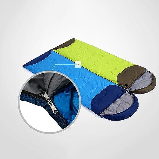 ZML Saco de Dormir Individual, cálido, 3 Temporada, liviano, Acampar al Aire Libre (Color : Blue, Tamaño : 1.78kg): Amazon.es: Hogar