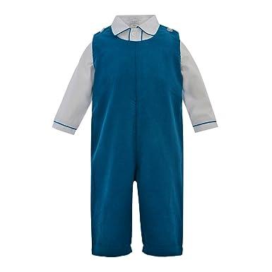 7f4e1012a75 Amazon.com  Carriage Boutique Baby Boys 2pc. Blue Corduroy Longall ...