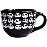 Silver Buffalo NB4424 Disney Nightmare Before Christmas Jack Face Ceramic Soup Mug, 24-Ounces