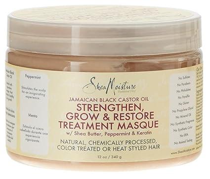 Shea Humedad amaican negro aceite de ricino Fortalecer Grow y restauración treatment Masque, 12oz (