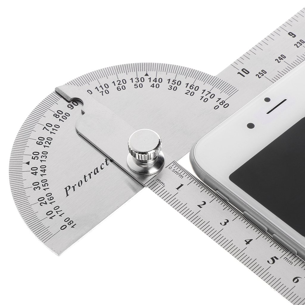 Misright Stainless Steel Angle Ruler 180 degree Protractor Finder Arm Measuring Tool by Misright (Image #6)