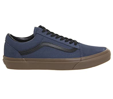 01f34dd8760 Vans VN-0A38G1U4C  Mens Old Skool Dark Denim Black GumRubber Vulcanized  Sneakers