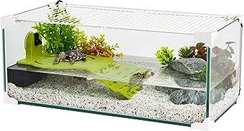 ZOLUX Acuario tortue-aquaterrarium para Tortuga de Agua de 60 cm