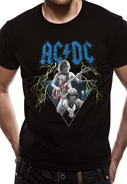 ACDC Angus Young Brian Johnson Rock Oficial Camiseta para Hombre Unisex (Small): Amazon.es: Ropa y accesorios
