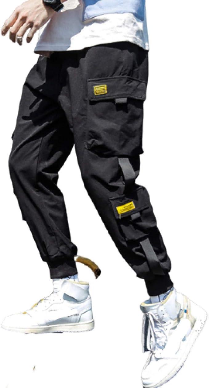 Zestion Pantalones cónicos Rectos 3D para Hombre, Pantalones ...