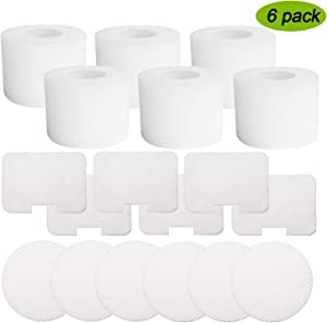 Froliclean6 Pack Vacuum Filters Replacement for Shark Navigator Deluxe Upright Models NV42, NV44, NV46, UV402, Replaces Part XFF36