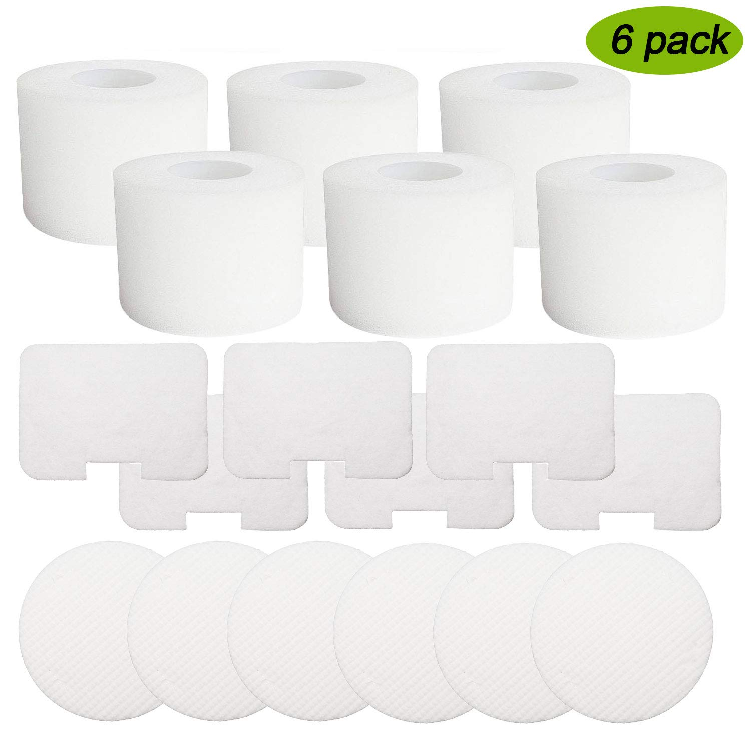 Froliclean 6 Pack Vacuum Filters Replacement for Shark Navigator Deluxe Upright Models NV42, NV44, NV46, UV402, Replaces Part XFF36