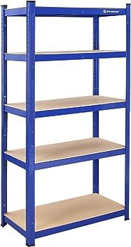 Songmics GLR45Q - Estantería para Cargas Pesadas, 180 x 90 x 45 cm, soporta hasta 1325 kg, 5 estantes Ajustables, estantería de Metal, para Taller, ...