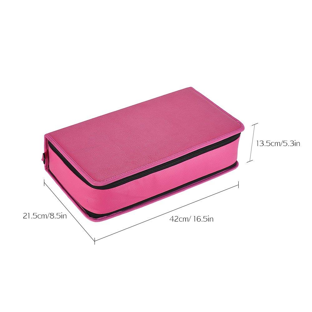 Aibecy 120 Slots Portable Marker Pen Tasche Folding Fall Marker Stift Fall Folding Halter Organizer mit Hand Schultergurt für Künstler Studenten c314f6