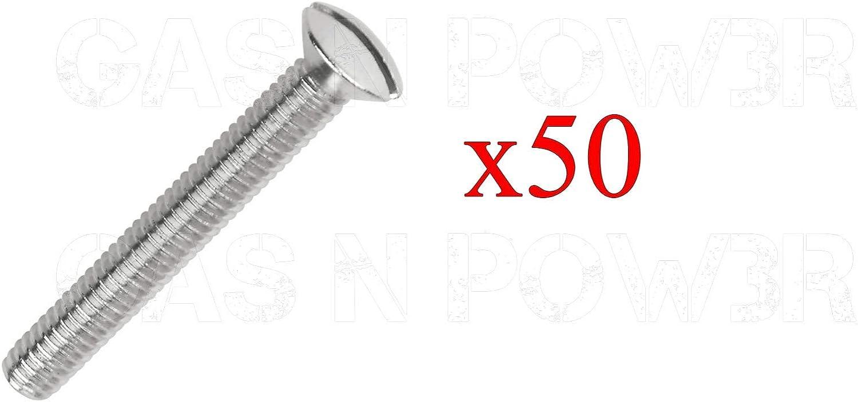 LONG REACH 50MM SOCKET SWITCH FRONT SCREWS X 4 ZINC PLATED M3.5 X 50