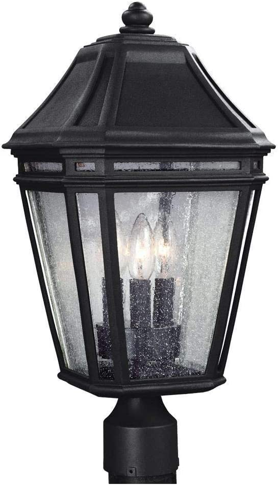 Feiss OL11307BK Londontowne Marine Grade Outdoor Post Lighting Black 8W x 17H 3-Light 180watts