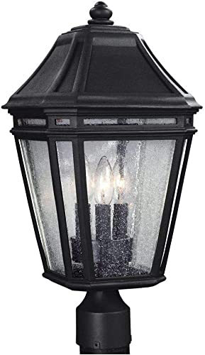 Feiss OL11308BK-LED Londontowne LED Marine Grade Outdoor Post Lighting, 2-Light, 18 Watts, Black 10 W x 20 H
