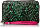 Marc Jacobs Block Letter Snake Zip Phone Wristlet, Green Snake Multi, One Size