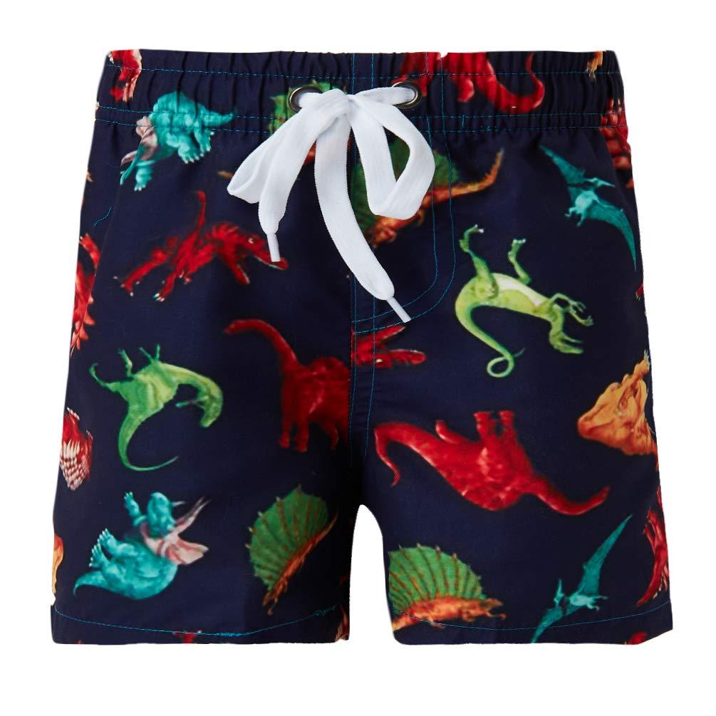 ALOOCA Boys Polyester Swim Trunks Cartoon Dinosaur Beach Children Boxers