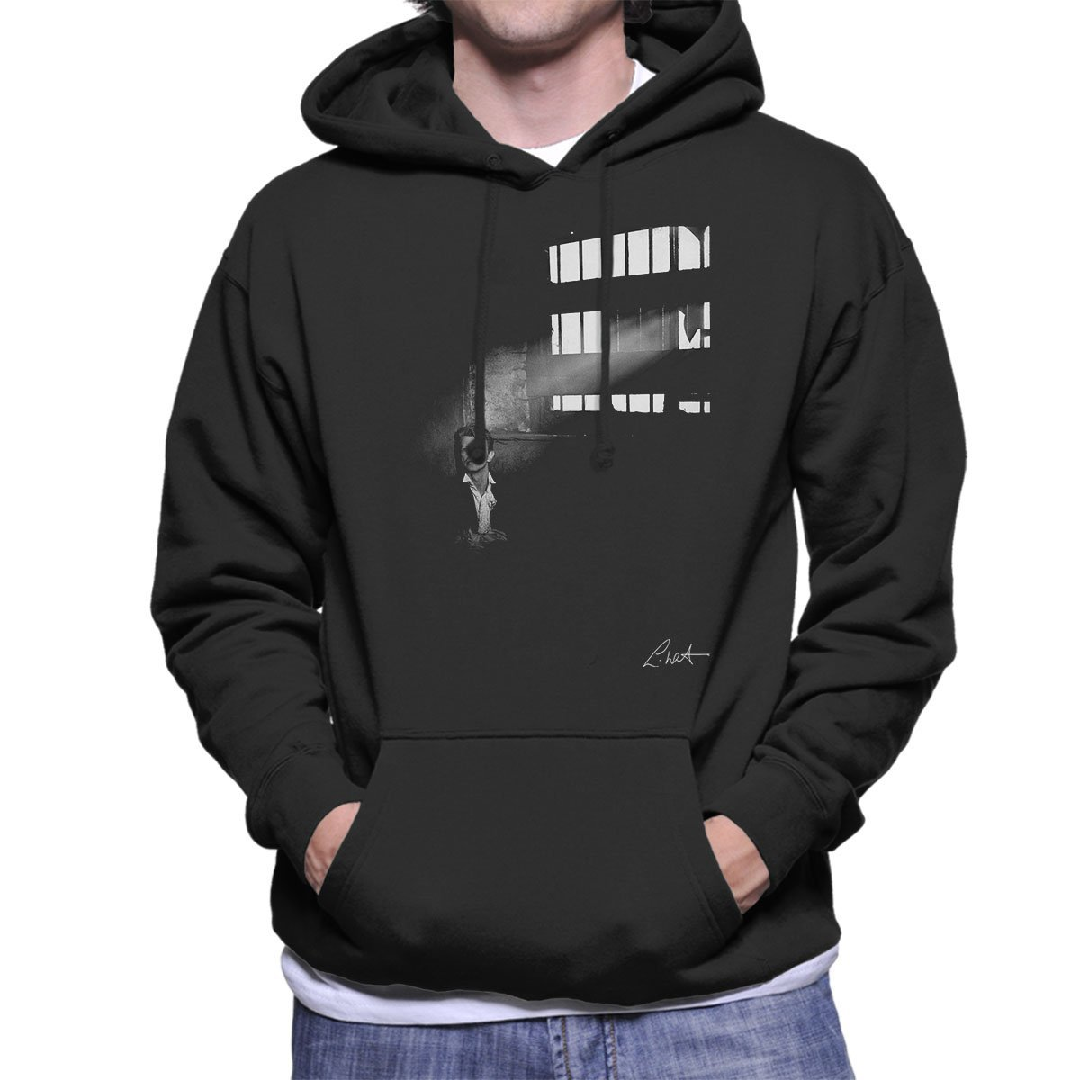 Lawrence Watson Official Photography - David Bowie in Edinburgh 1990 Men's Hooded Sweatshirt