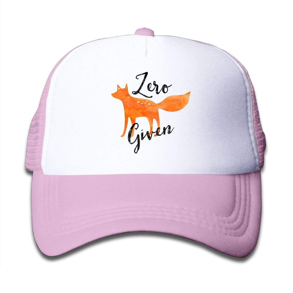 Adjustable Baseball Mesh Cap Zero Fox Given Trucker Hat Children
