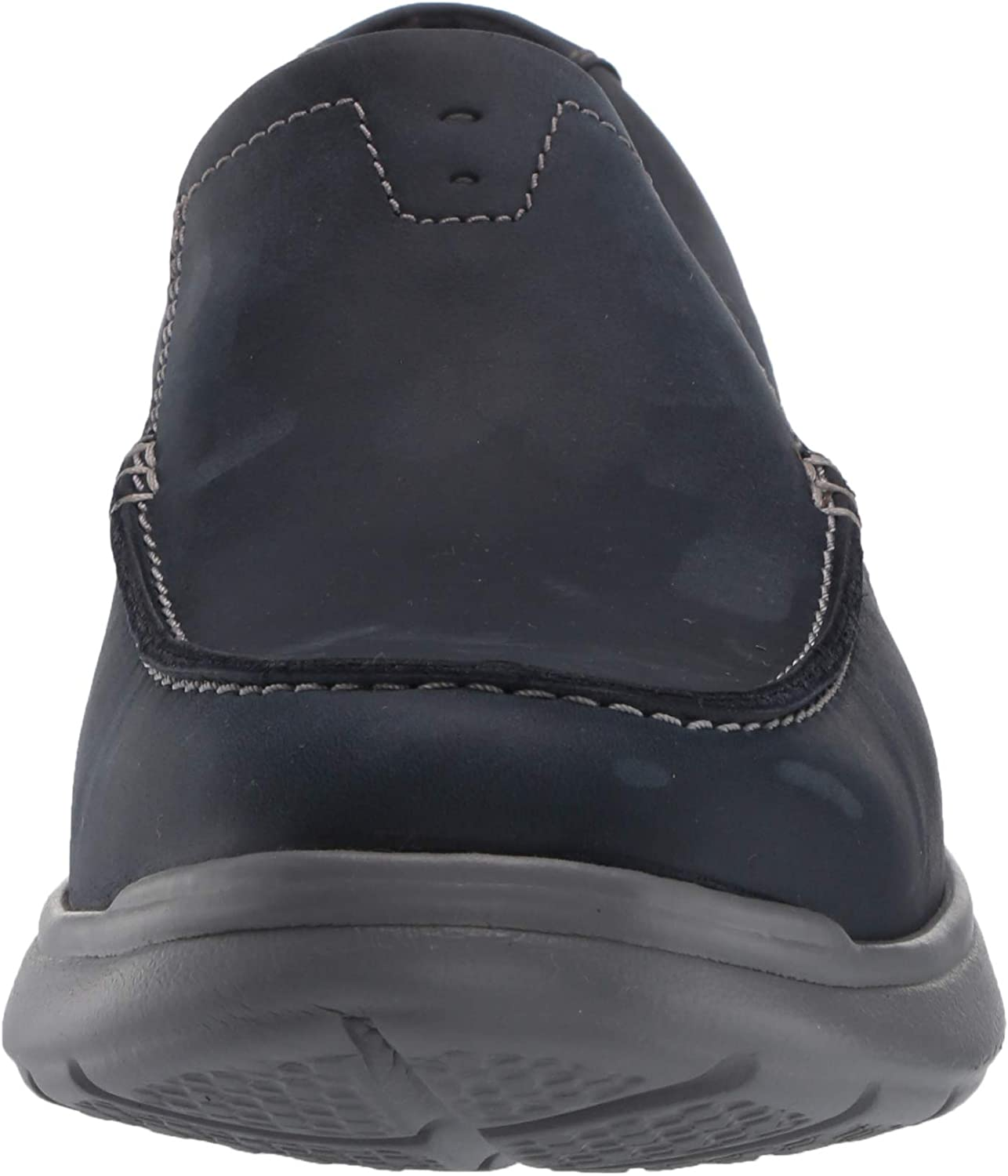 Navy Combi Leather Clarks Mens Cotrell Easy Loafer Numeric/_9 Wide