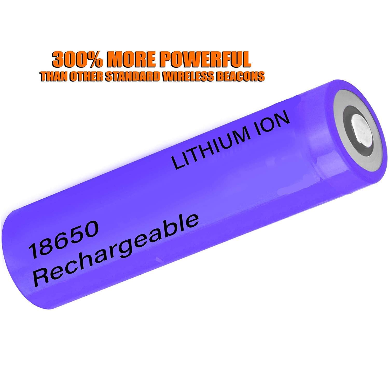 Warningworx Amber Orange Beacon 4 Watt Amber Warning Strobe Light LED Rechargeable Battery Powered Wireless Flasher