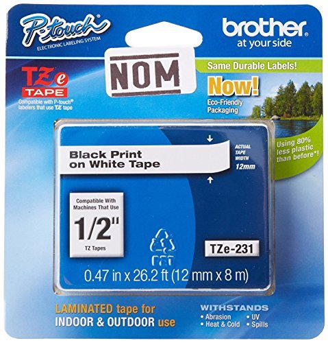 Brother Laminated Black on White Tape (TZe231) (3 Pack)