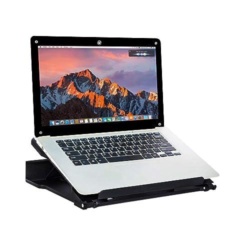 DESIGNA Soporte de enfriamiento para computadora portátil ajustable Soporte para computadora portátil con soporte vertical para
