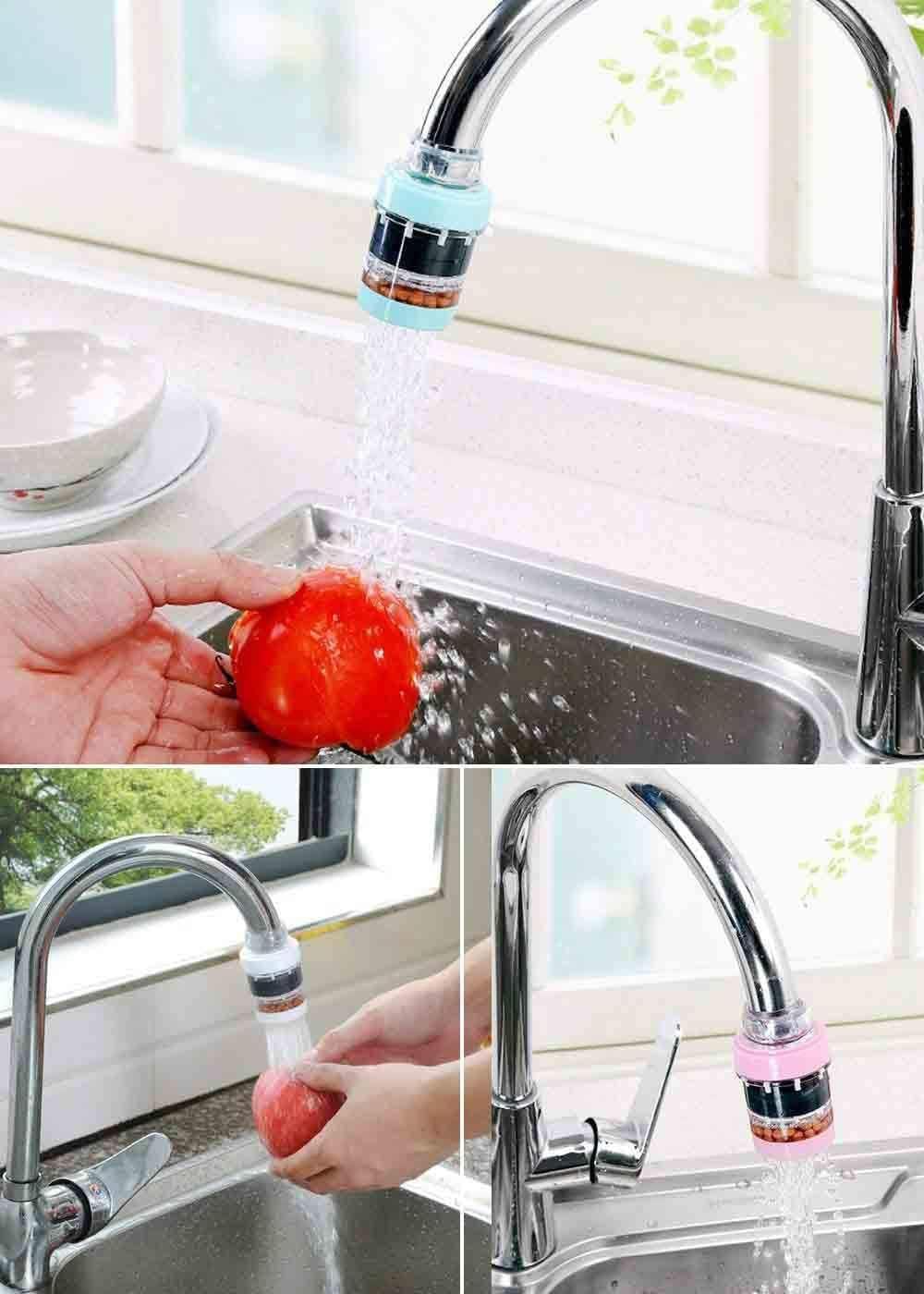 Paquete de 2 filtros de agua para grifo, purificador de agua ...