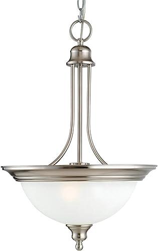 Design House 517102 Bristol 2 Light Pendant, Satin Nickel