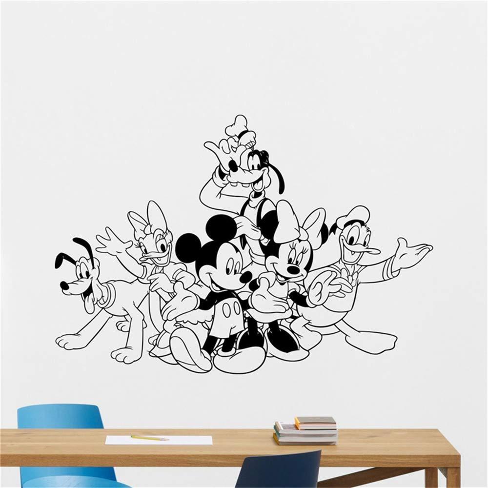 pegatina de pared frases Mickey Minnie Mouse Arte de la pared ...
