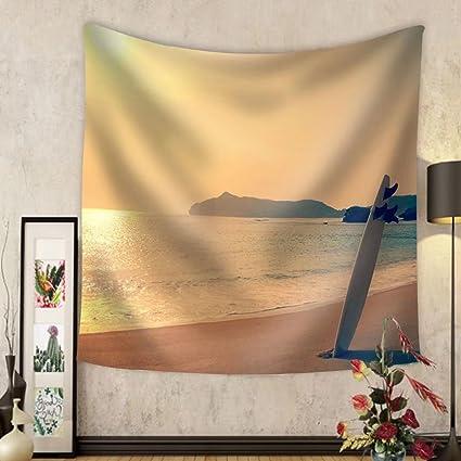 niasjnfu Chen Custom tapiz antiguo nos foto de tabla de surf en el salvaje playa de