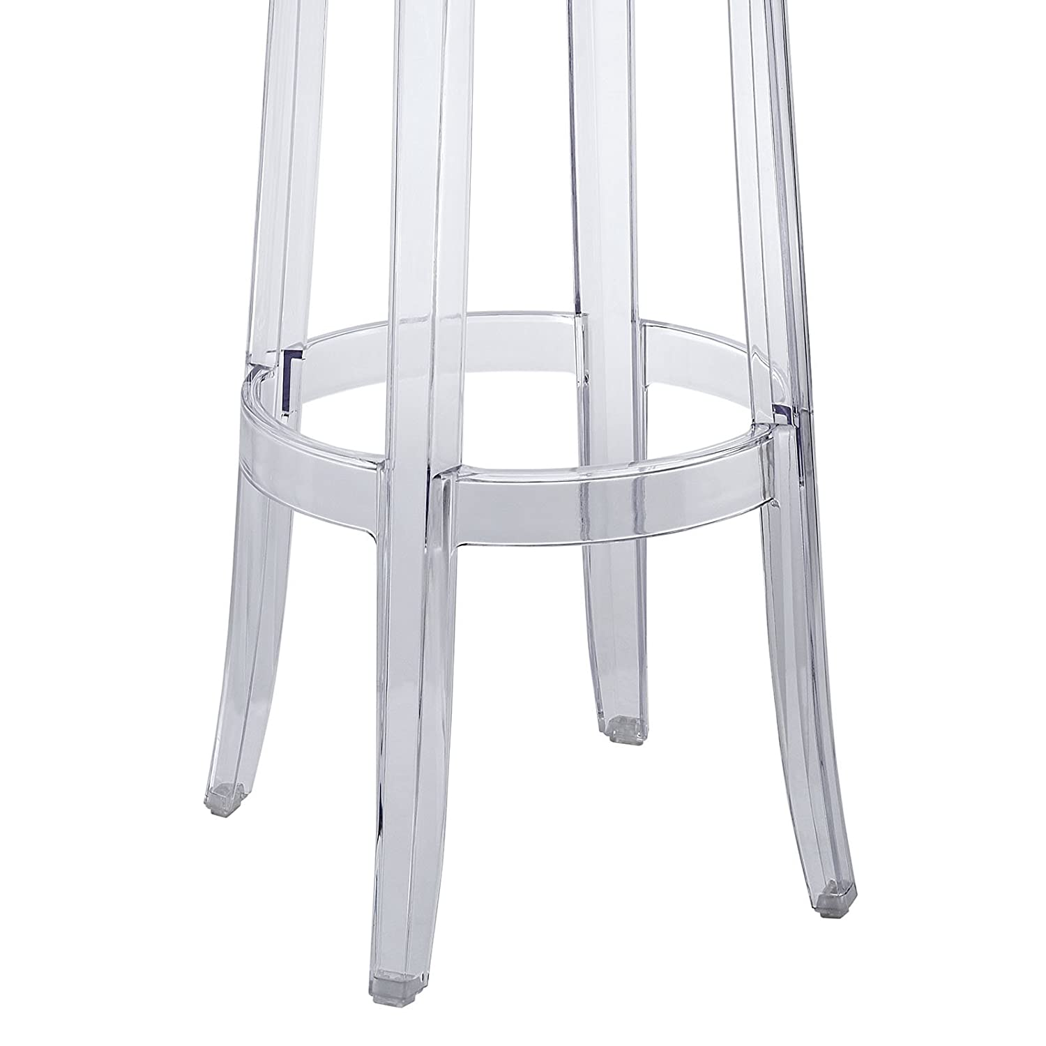 Acrylic Barstool Amazoncom Modway Casper Bar Stool In Clear Kitchen Dining