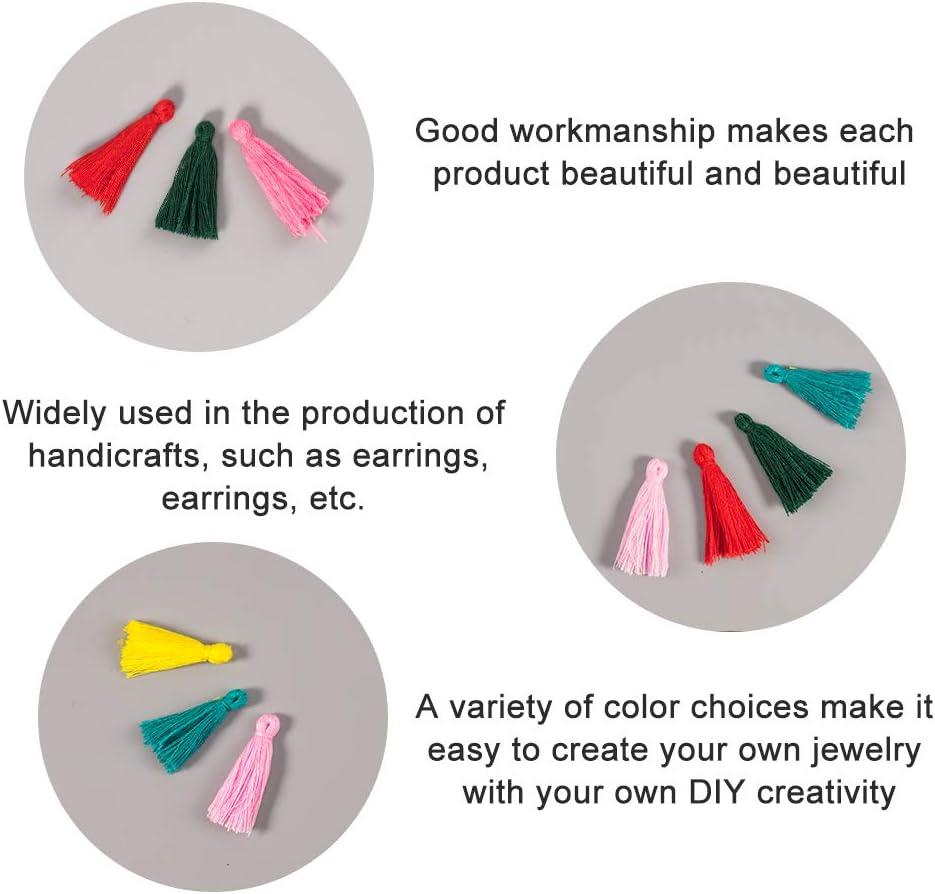 NBEADS 1 Bolsa 39-47 Piezas//Bolsa 25-31 X 5 mm Colores Mezclados Algod/ón Borlas Colgantes para DIY Pulsera Pendientes Hacer