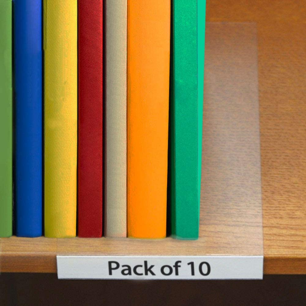 0.75 x 5 SmartSign Pack of 10 Moveable Shelf Label Holders
