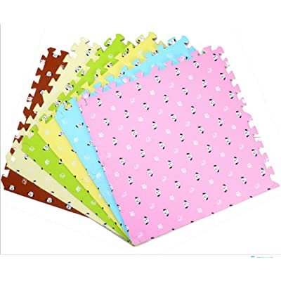 9 piezas Puzzle Alfombra Suave para Niños/Rompecabezas para cubrir el suelo / Material espuma/EVA Mat - No Tóxico/Perfectas para Proteger el piso, Ejercicio, Yoga y Sala de juegos. (Rosa): Juguetes y juegos