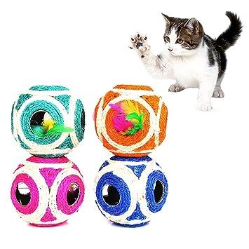 wiFndTu Juguete Divertido para Gatos 6 Agujeros Huecos, Bola de ...