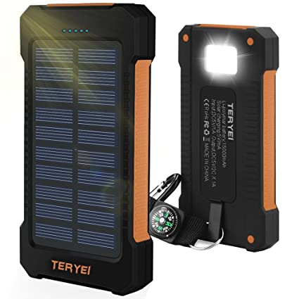 buy online 6a3e1 934ad Solar Phone Charger 15000mAH Teryei Solar USB Charger Waterproof ...