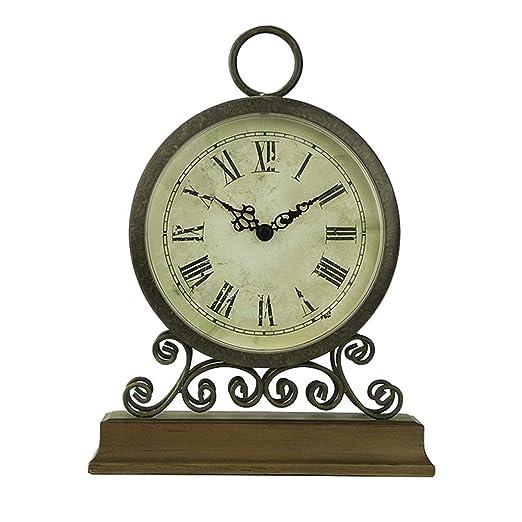 Reloj de Escritorio Relojes Familiares Reloj de Mesa de Hierro ...