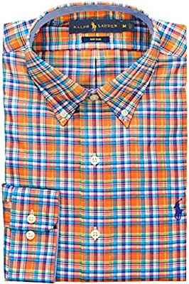 Polo Ralph Lauren Men's Standard-Fit Non Iron Plaid Oxford Dress Shirt