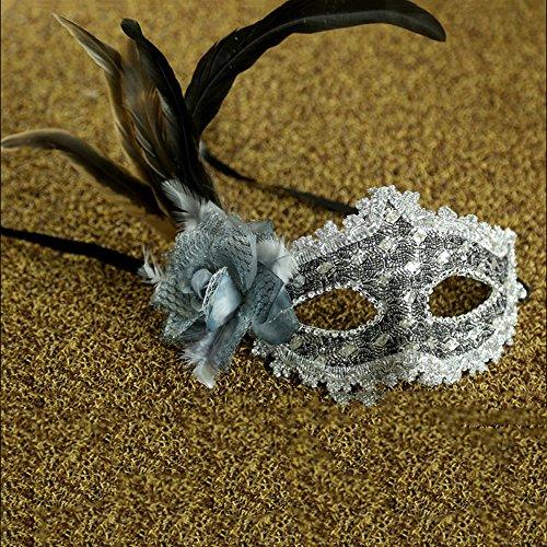 Mask Room Ball (KAKA(TM) Mask Costume Cosplay Ball Dancing Party [Halloween] Princess Masks Facial Masquerade Glitter - Grace)