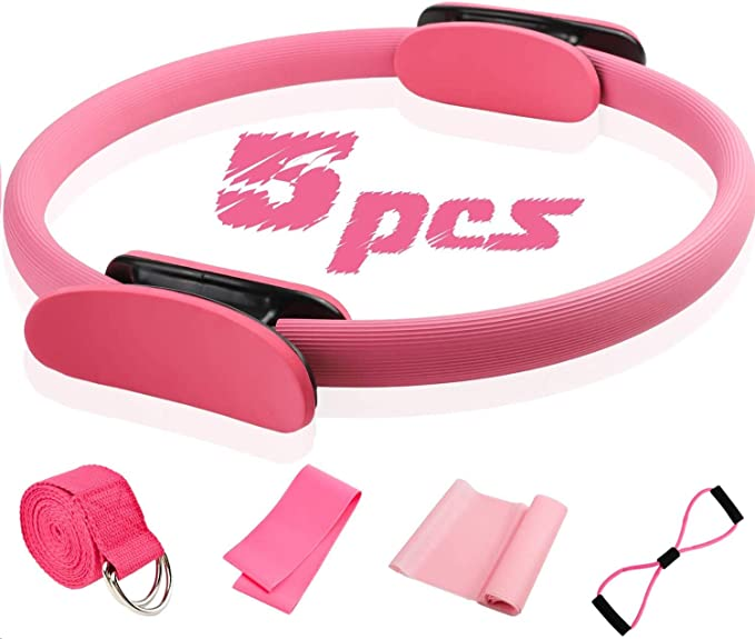 Yoga Circle Equipment Pilates Yoga Ring Fitness Training Support Resistance Y1T5