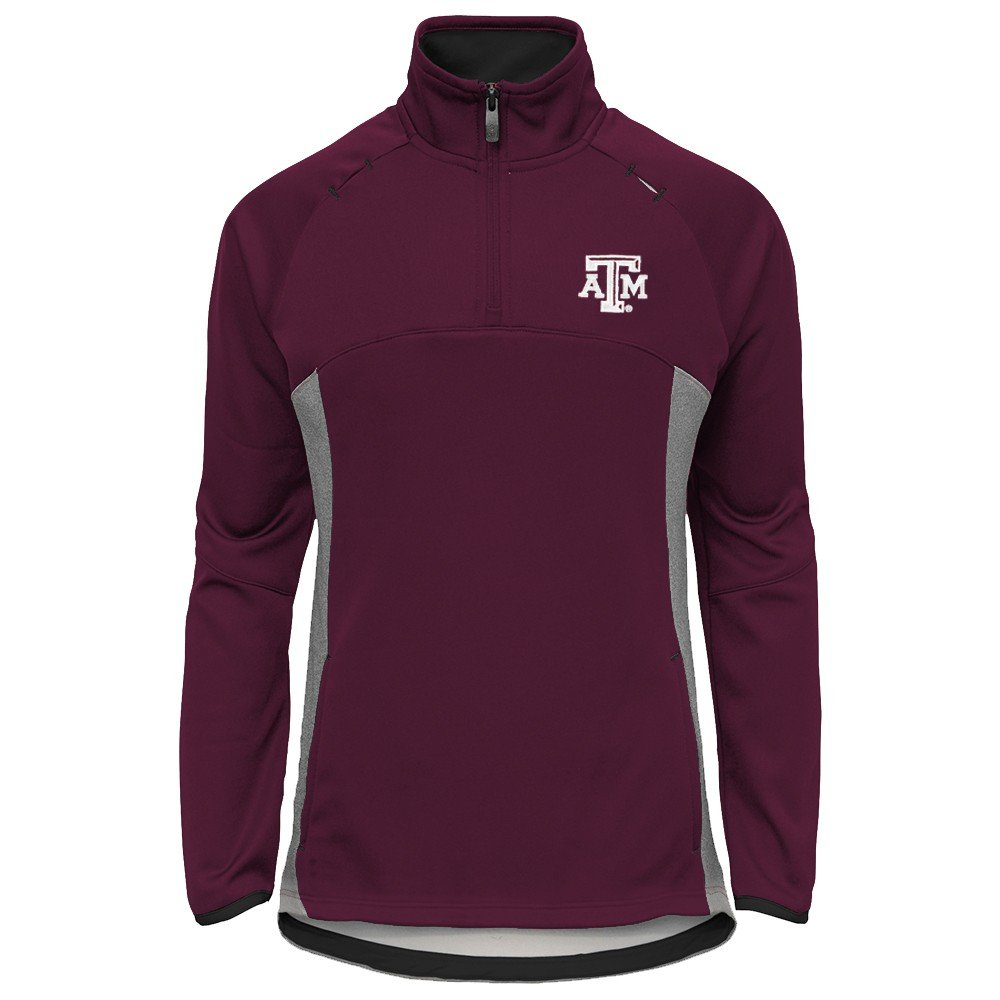 Outerstuff Texas A&M Aggies NCAA Extreme Team Logo 1/4 Zip Pullover Jacket Girls Youth by Outerstuff