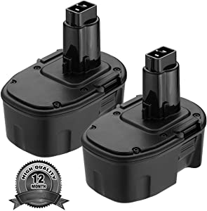 2Pack 3.0Ah 14.4V DW9094 Ni-MH Replace for Dewalt 14.4V Battery XRP DC9091 DW9091 DW935 DE9038 DE9091 DE9092