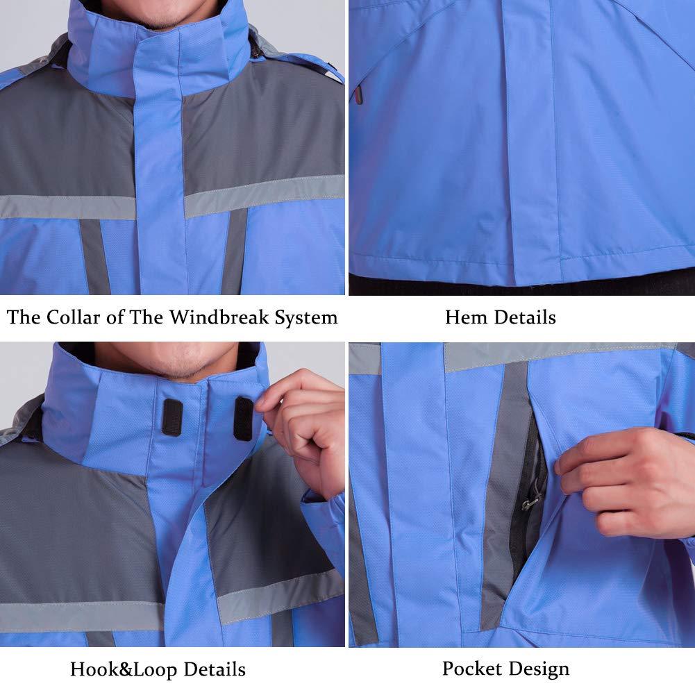 Mount/&Marter Men/'s Snow Mountain Ski Jacket 3 in 1 Waterproof Winter Jacket Work Wear Windproof with Inner Warm Fleece Coat