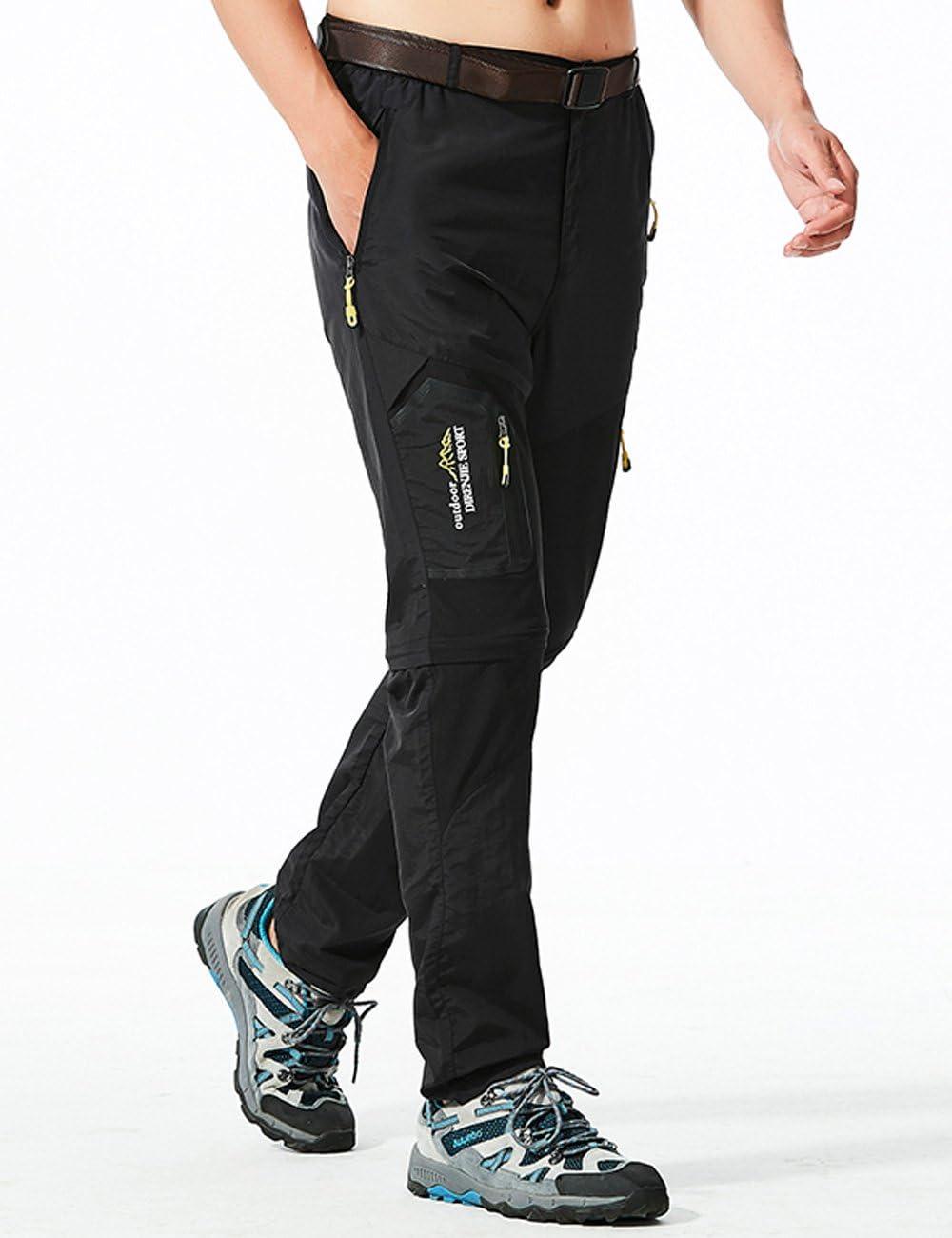 Lecoon Pantalones Hombres Largo//Corto Impermeable Senderismo T/áctico Camuflaje Secado R/ápido Fino y Transpirable para Primavera y Verano