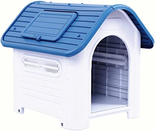 SENYEPETS Outdoor Indoor Plastic Dog Houses Carry Skylight Portable Pet Waterproof Plastic Dog Kennel Puppy Shelter