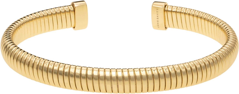 """JANIS BY JANIS SAVITT Plated 1/4"""" Open Back Cobra Bracelet"""