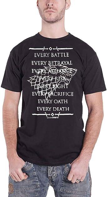 Game Of Thrones Camiseta de Hombre de Juego de Tronos Every Fight Cotton Black: Amazon.es: Ropa y accesorios