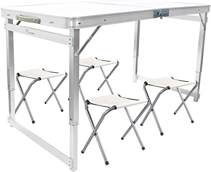 Portable Folding Table Picnic BBQ Party Dining Camping Desk Plastic Auminum Yard