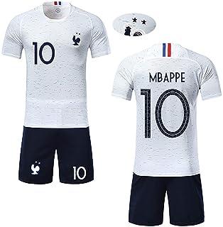 Angel ZYJ T-Shirt Garçon Maillot de Football France 2 étoiles et Short  Coupe du 93b4ae773d23