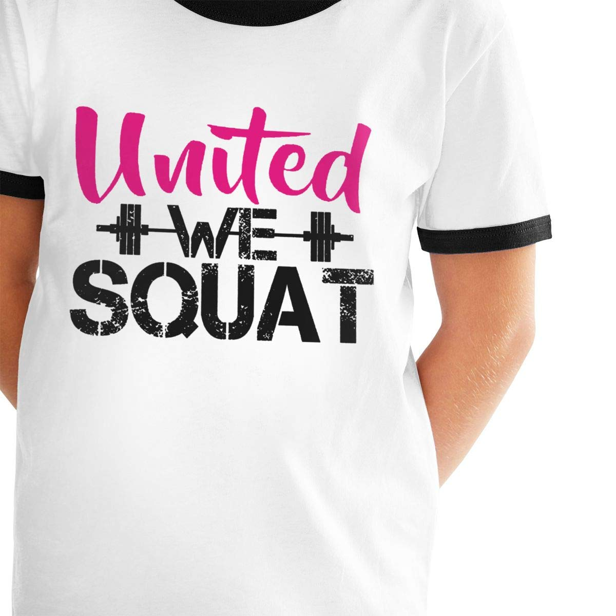 United We Squat Casual Tunic Tops Short Sleeve Loose Soft Blouse T-Shirt for Boys Girls