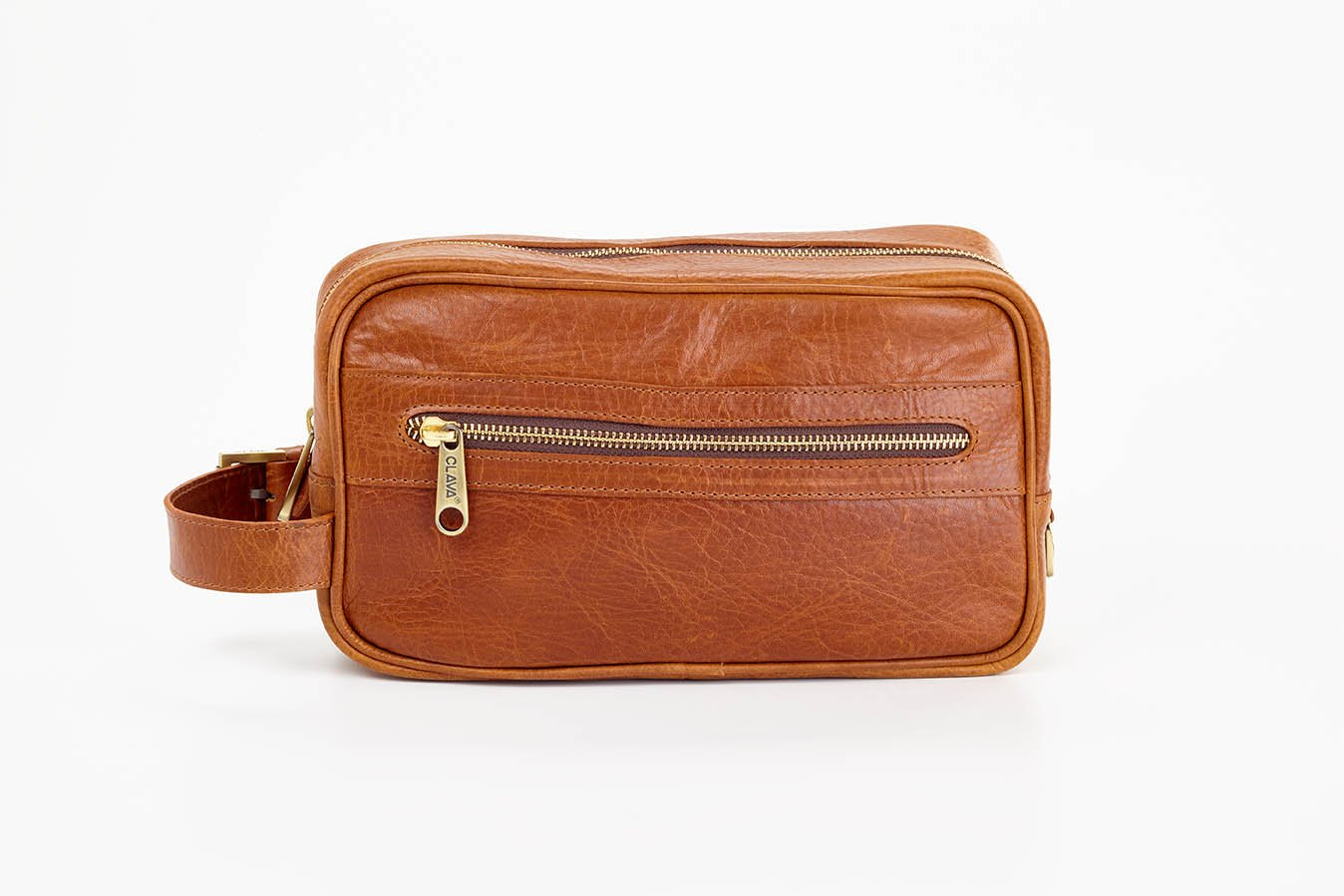 Clava Santa Fe Leather Toiletry Case, Tan by Clava