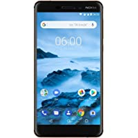 "Nokia 6.1 (2018) - Android One (Oreo) - 32 GB - Unlocked Smartphone (AT&T/T-Mobile) - 5.5"" Screen - Black"